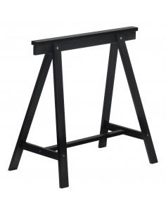 Caballete negro Deco de madera de pino