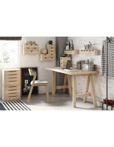 Caballete ecológico Glam de madera de pino para escritorio pequeño