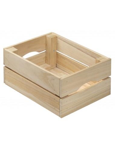 Caja pequeña de madera de paulonia