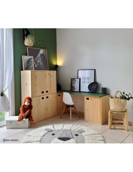 Armario Dinamic de 4 puertas de madera de pino con 4 baldas