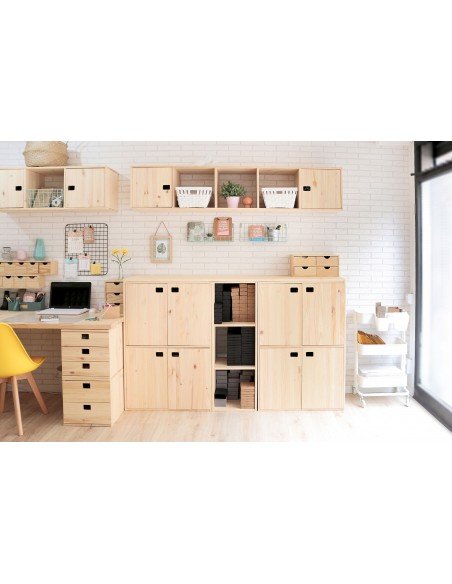 puerta de madera de pino para estantería modular