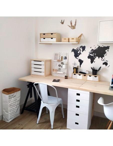 Tablero de madera de pino para escritorio 140x70 cm