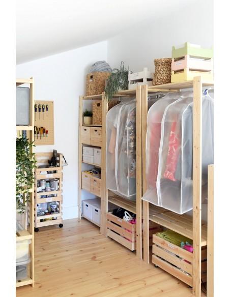 Perchero de ropa Evolution de madera macizo de pin