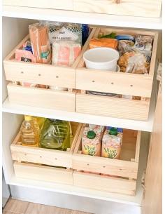 Caja pequeña Homebox de madera de pino encajable y apilable