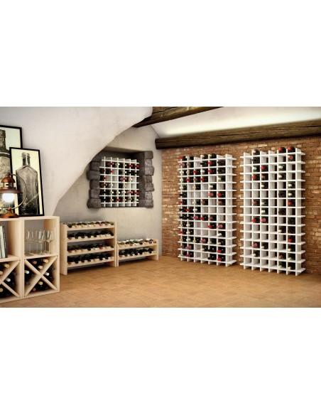 Botellero apilable Katea de madera de pino para 16 botellas