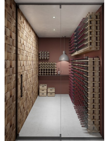 Botellero Rioja de madera de pino para 36 botellas