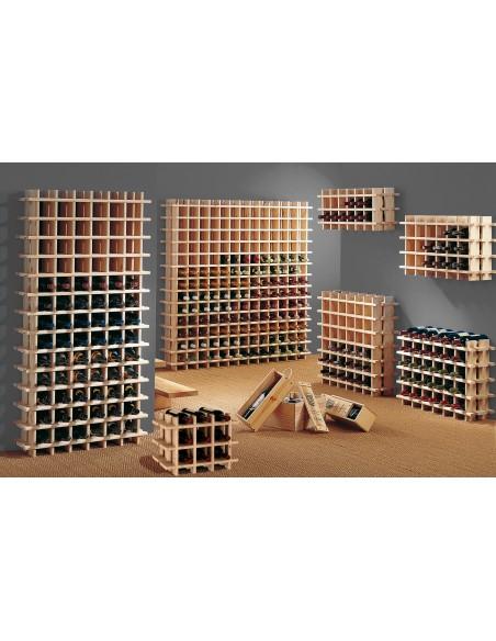 Botellero modular Rioja de madera de pino para 78 botellas