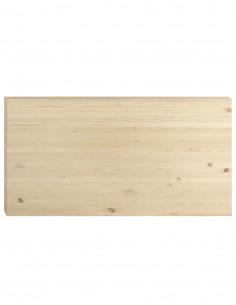 Tablero de madera de pino para mesa comedor 160x70 cm, gran grosor de 3,5 cm
