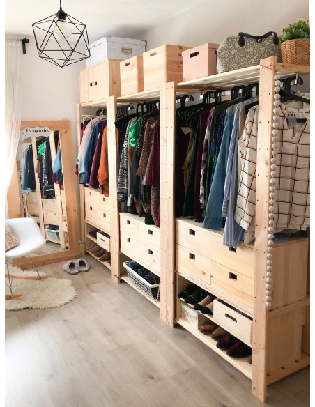 Perchero de ropa Evolution de madera macizo de pino