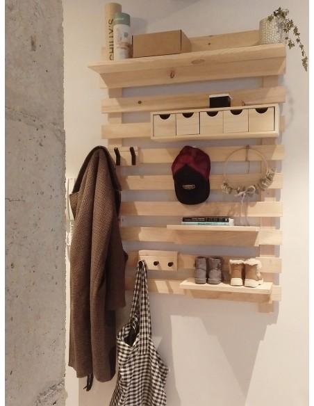 Mini cajonera de madera con cinco cajones