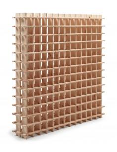 Botellero modular Rioja de madera maciza de pino para 169 botellas
