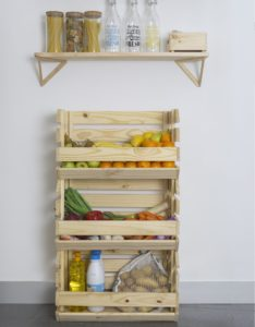 cajas apilables de madera maciza multiusos