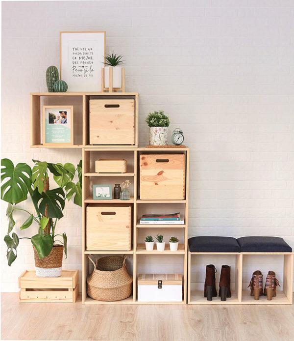 estanterías modulares para decorar recibidor cool