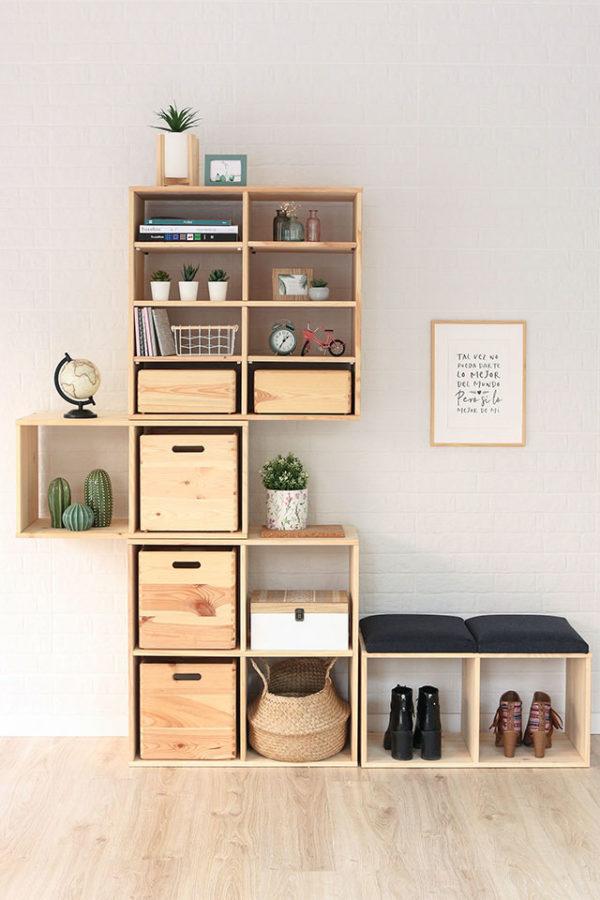 estanterías modulares para recibidor cool